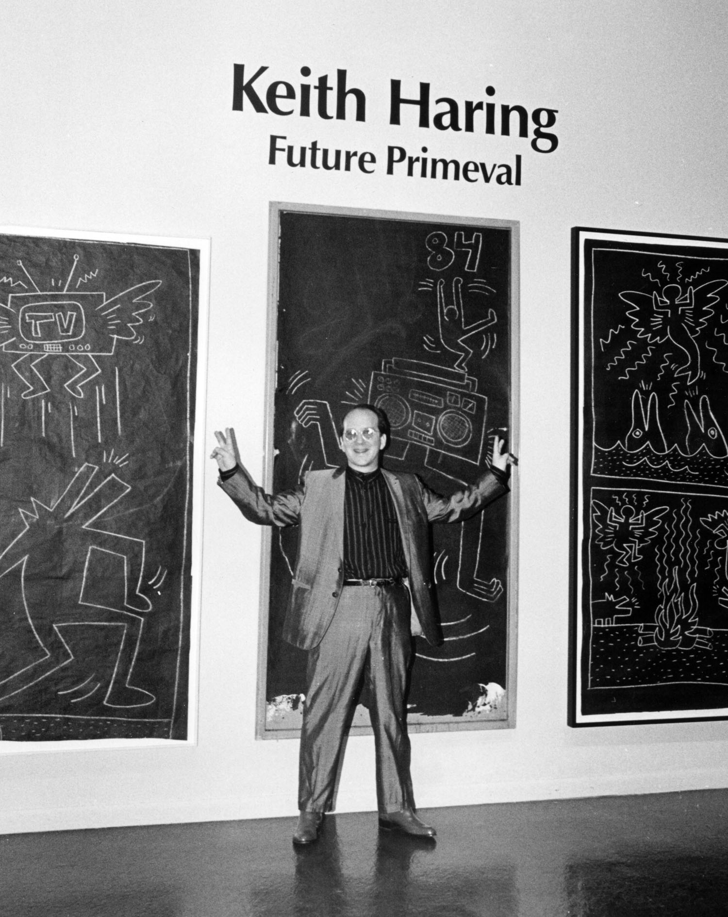 Guest curator Barry Blinderman,  Keith Haring Future Primeval , 1990