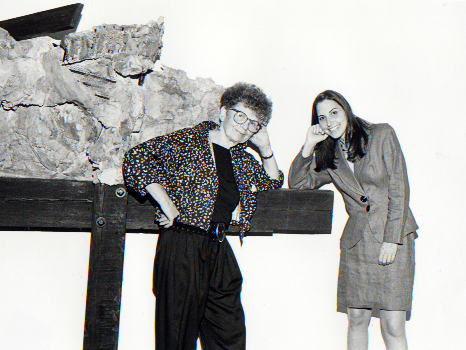 Phyllis Bilick and curator Barbara Matilsky,  The Expressionist Surface: Contemporary Art in Plaster , 1990