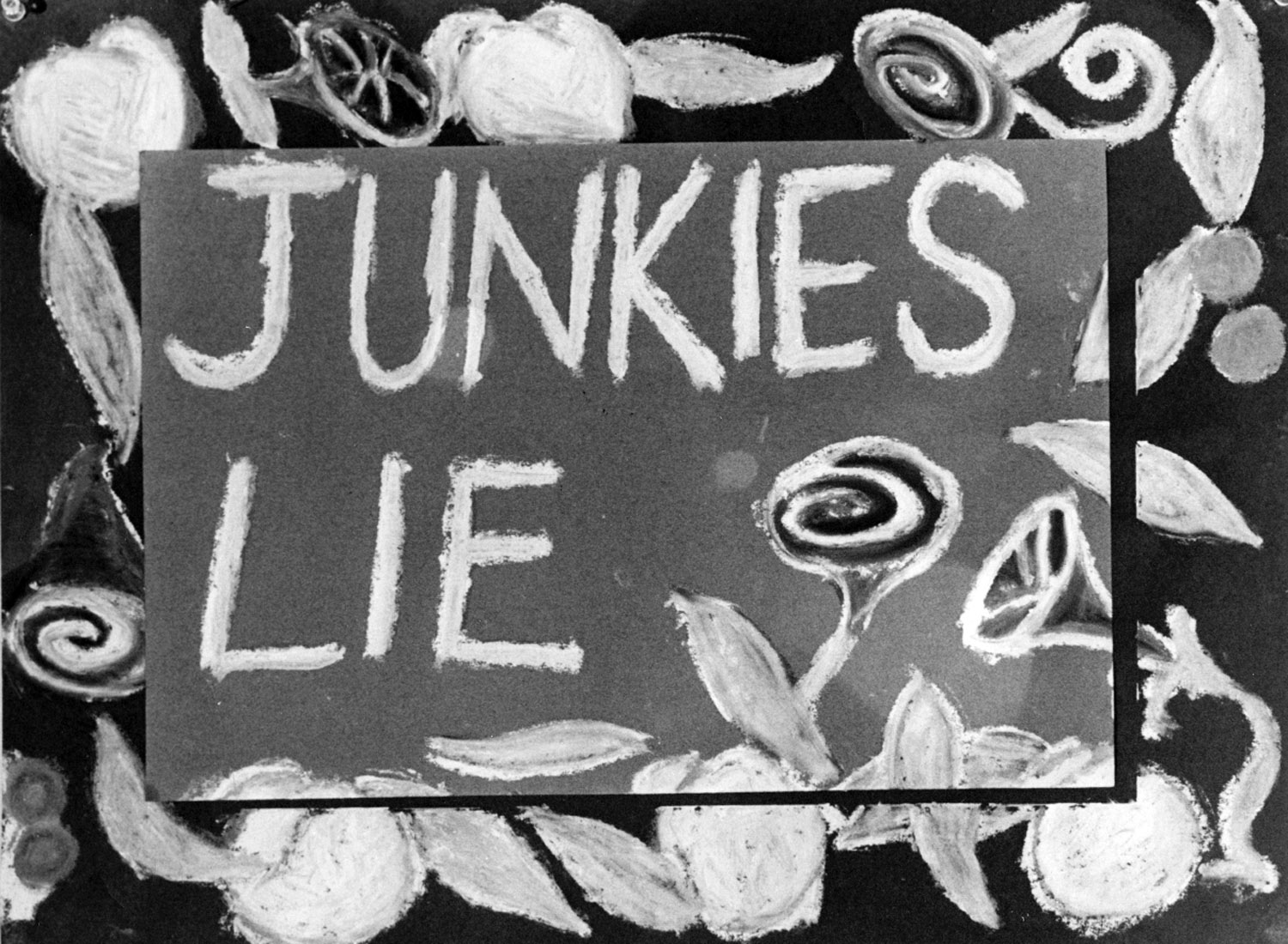 Becky Howland,  Junkies Lie , paint on paper