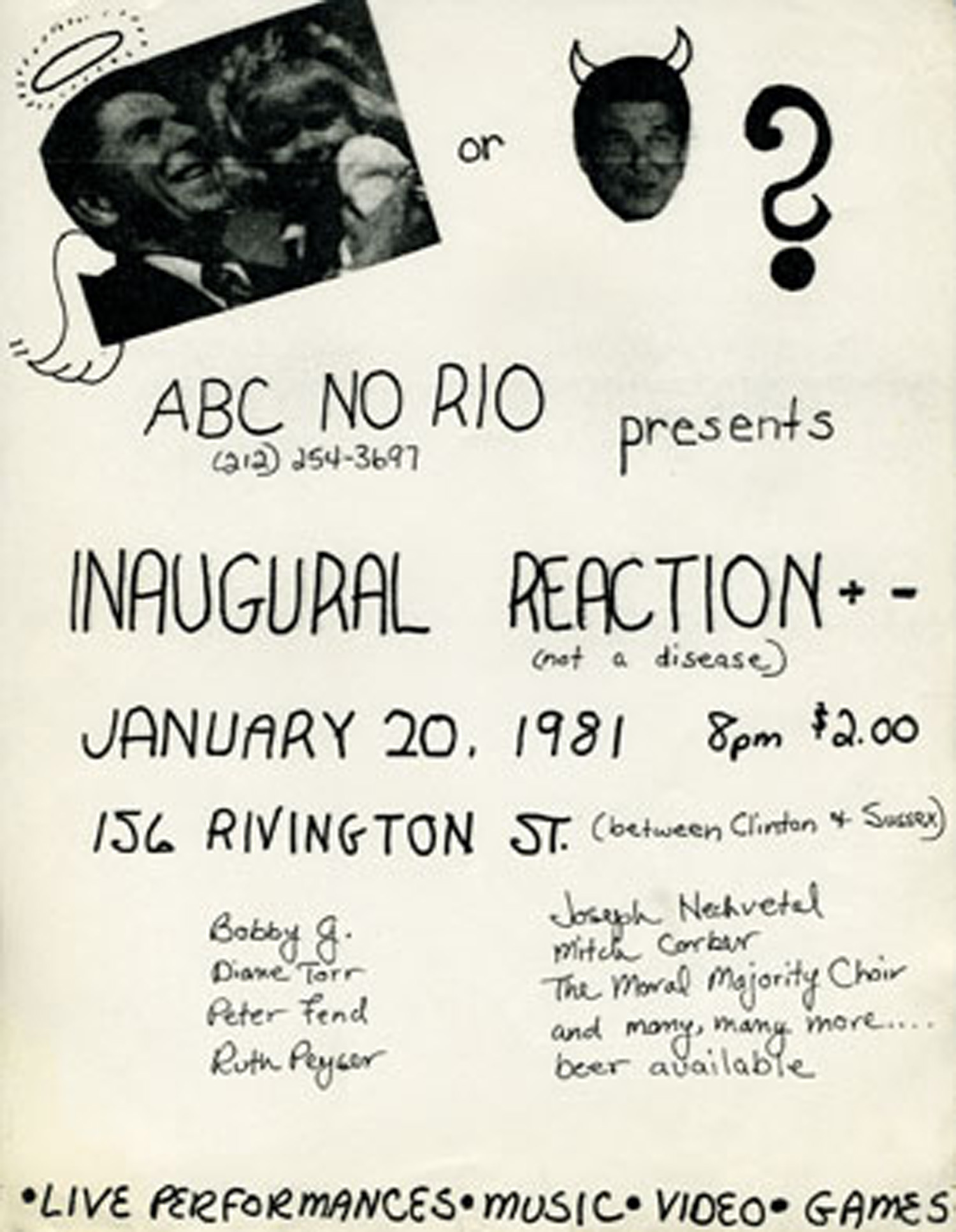 Inaugural Reaction poster