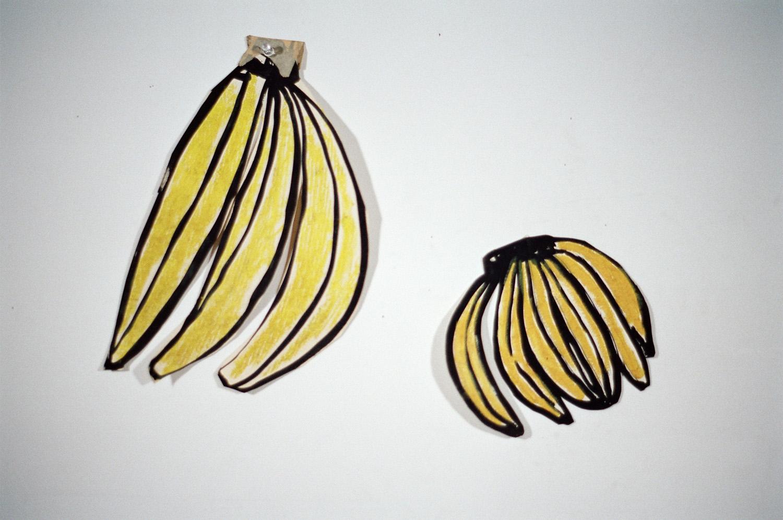 Cardboard bananas by Bobby G
