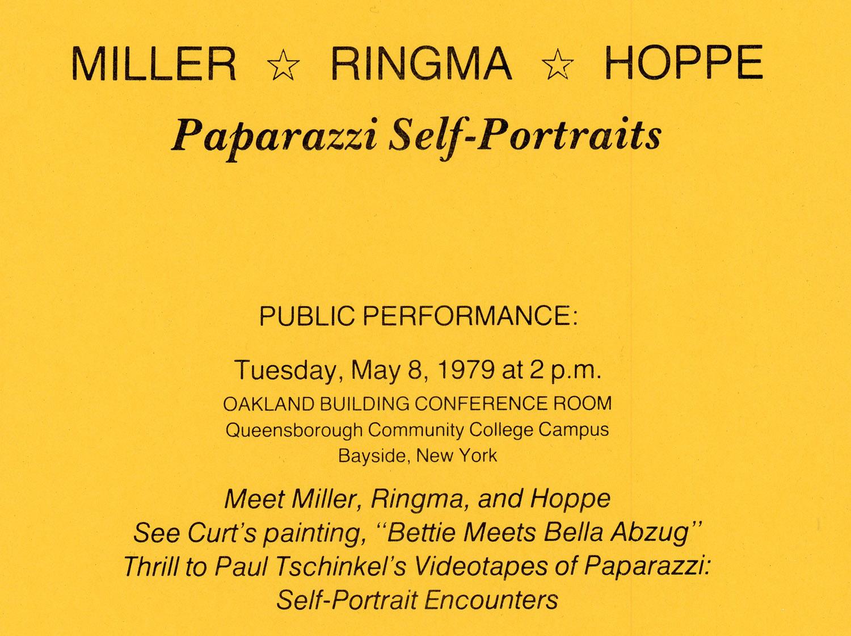 Queensboro Community College, Miller Ringma & Hoppe, Paparazzi Self-Portraits, 1979