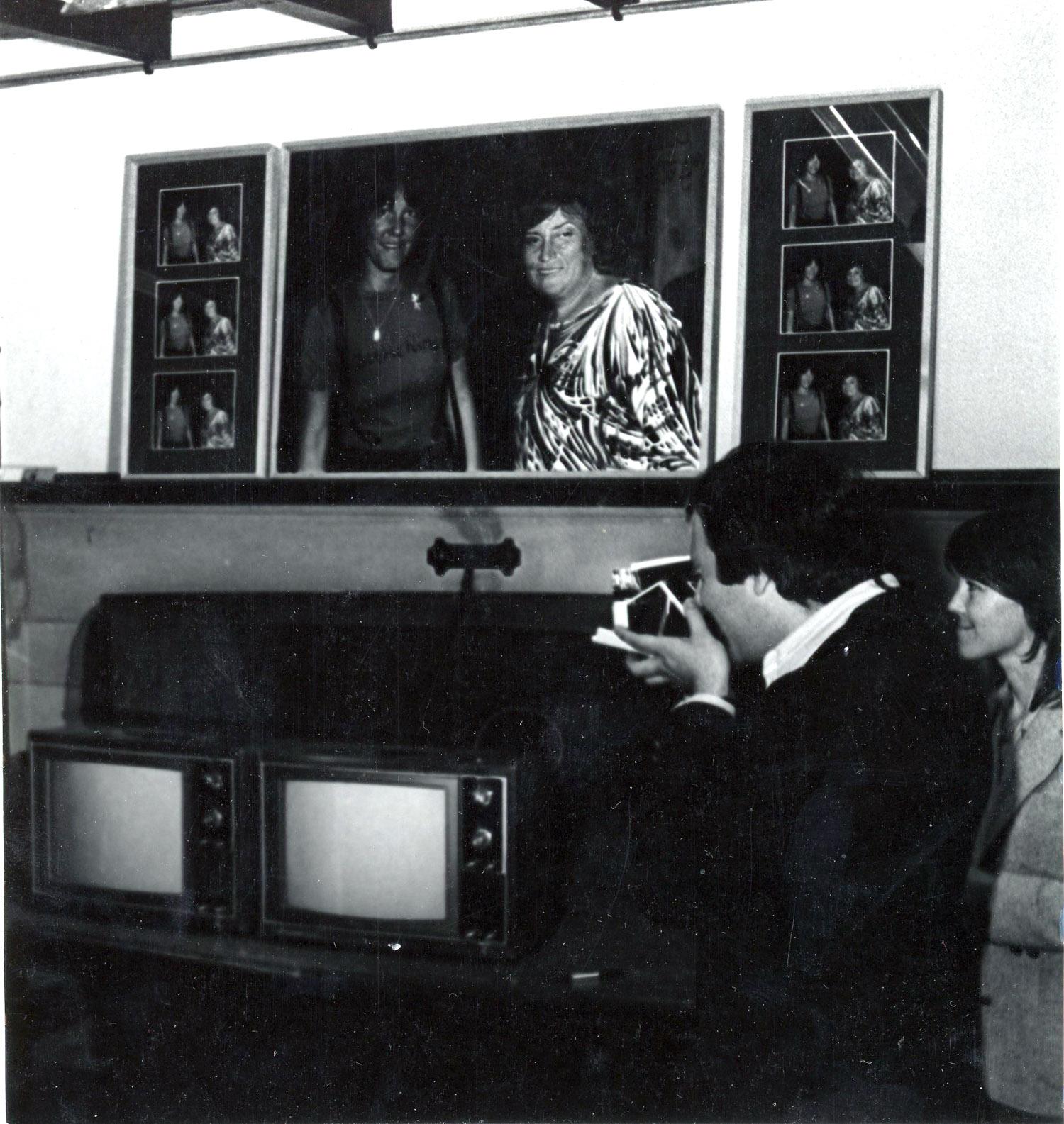 """Queensboro Community College, Display of """"Bettie & Bella Abzug"""", 1979"""
