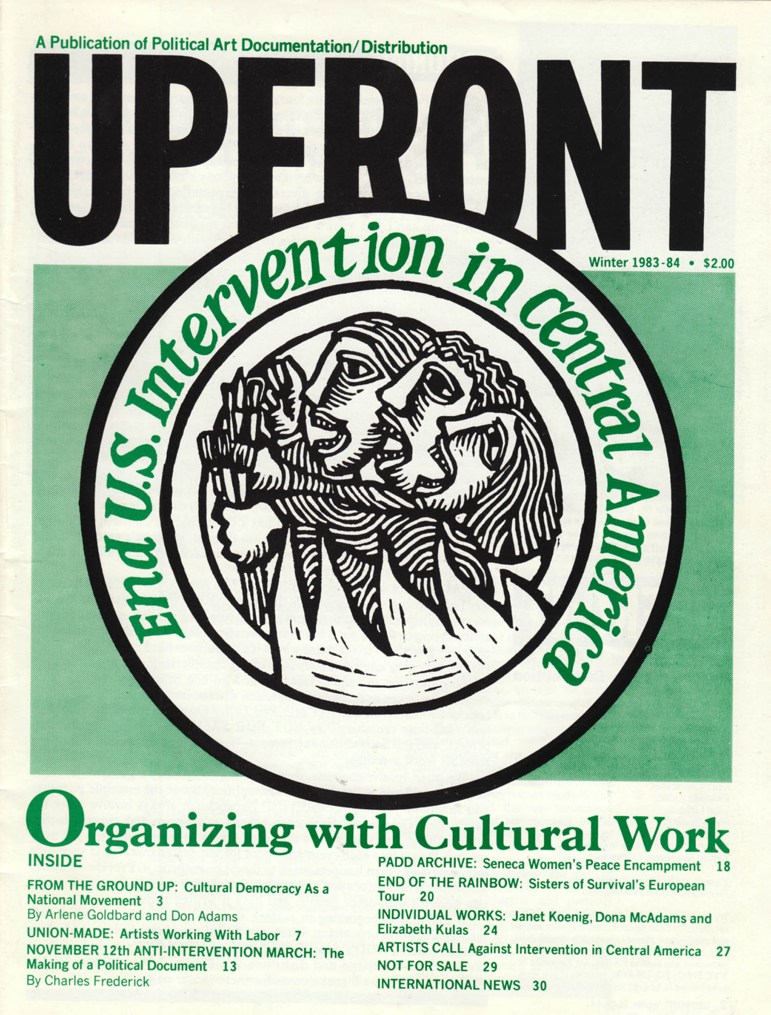 Upfront magazine, Winter 1983-84