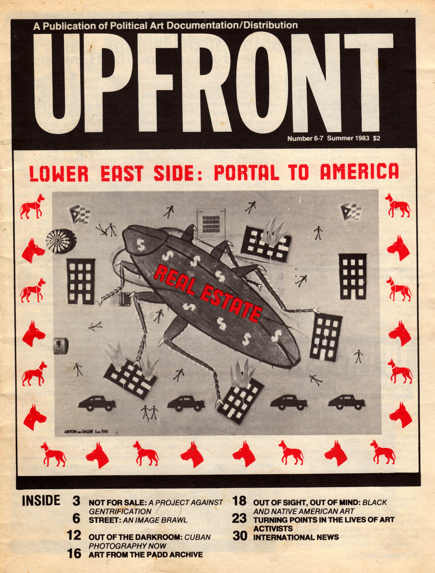 Upfront magazine, Summer 1983