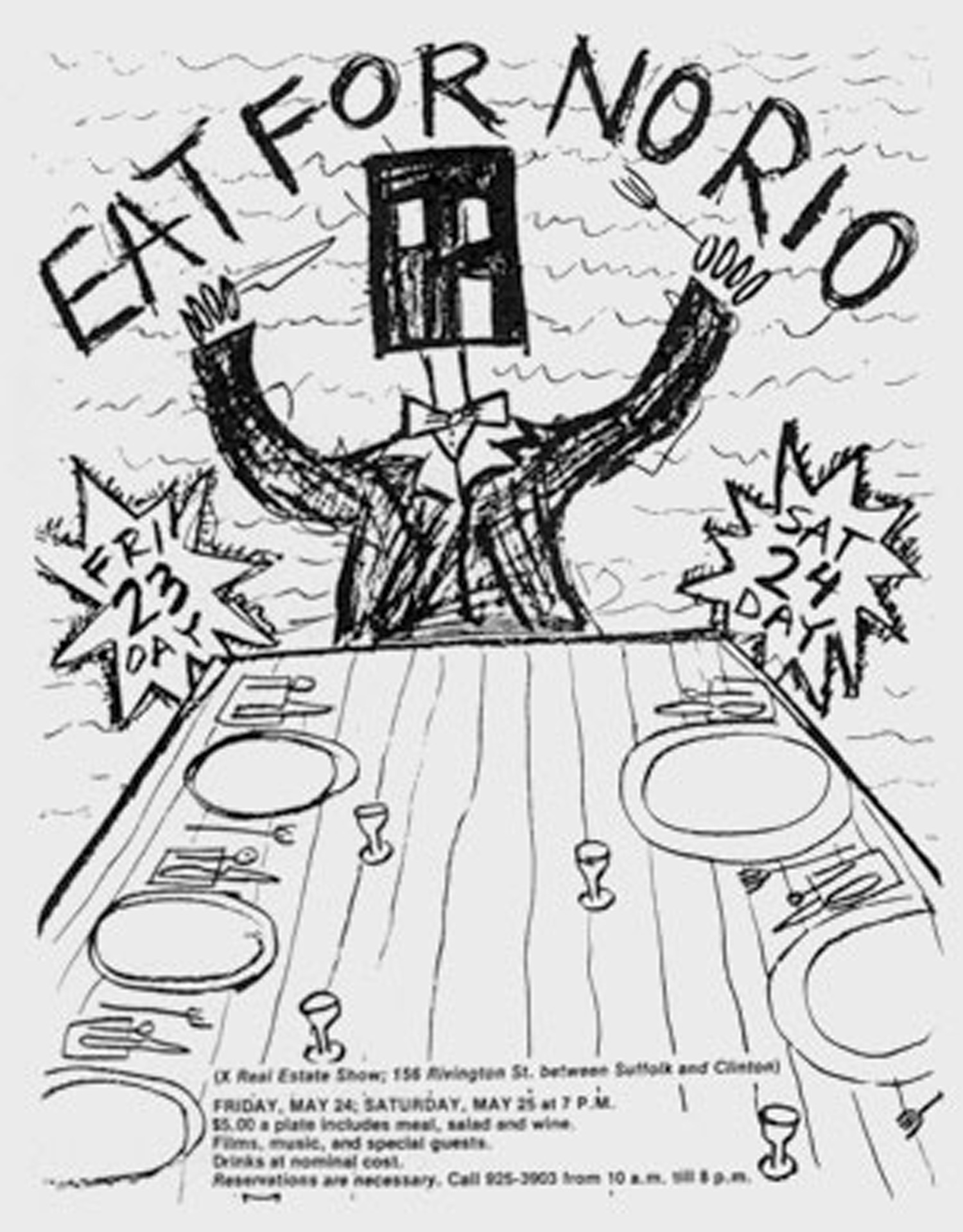 Eat For No Rio poster by Alan Moore