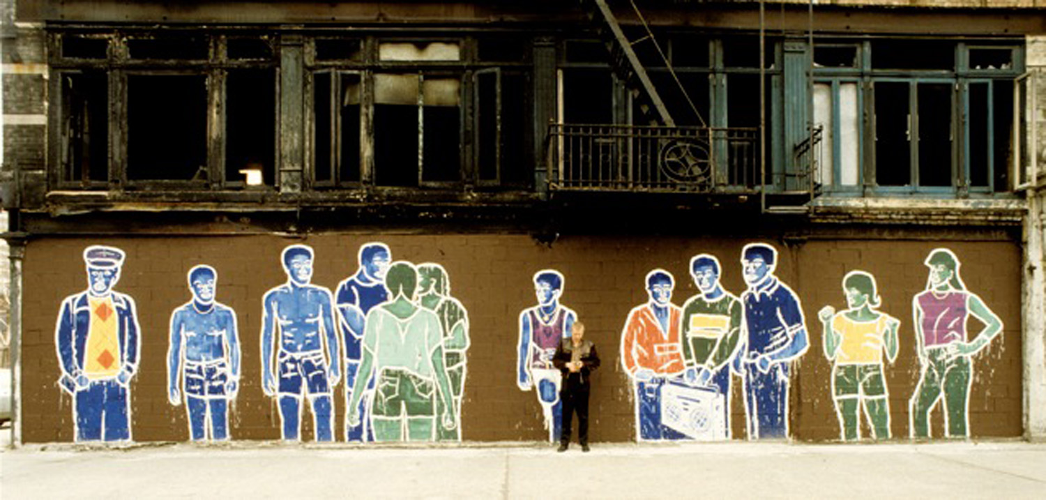 """The Wall"" 1984, Japan Colors and aluminum paint on masonry, 10' x 50' Suffolk and Delancey Streets"