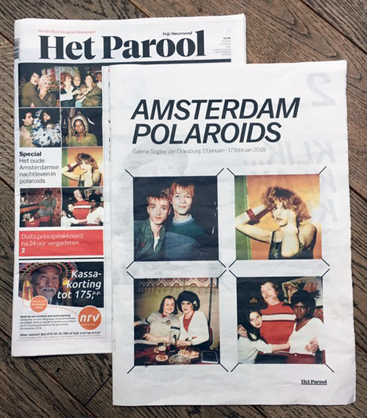In conjunction with our exhibition of the Amsterdam Polaroids at the Stigter Van Doesberg Gallery, the newspaper  Het Parool  published a special 8-page supplement, January 13, 2018.