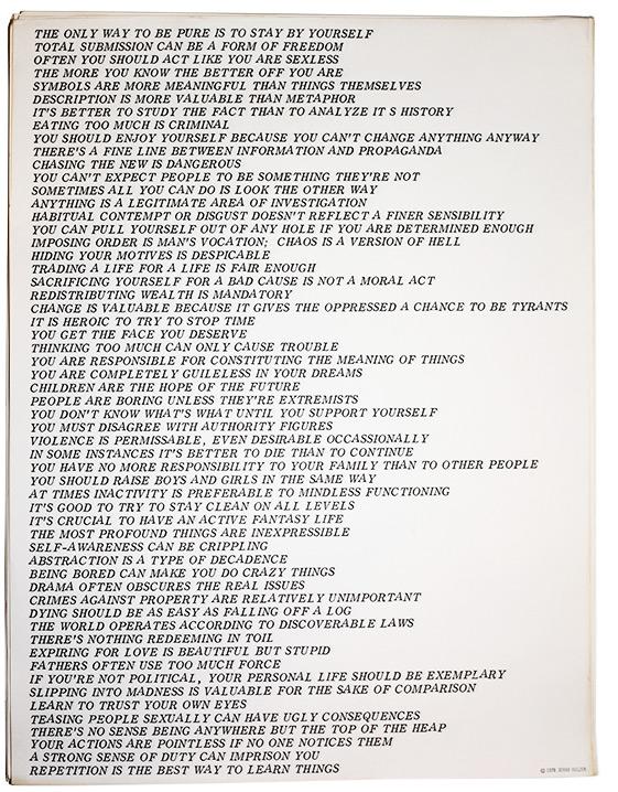 "Jenny Holzer, ""Truisms,"" offset street poster, 1978"