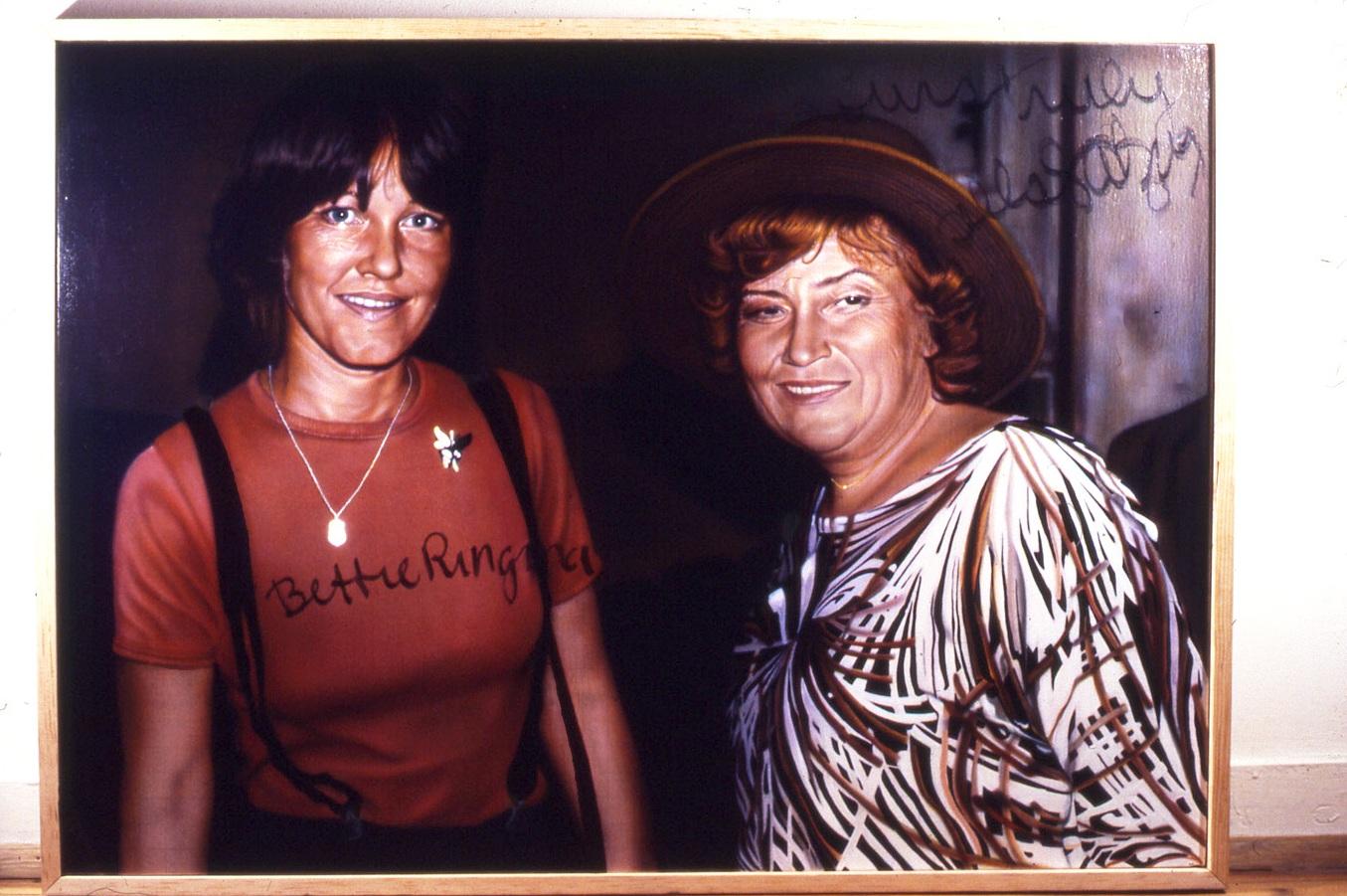 Signed Bettie & Bella Abzug painting