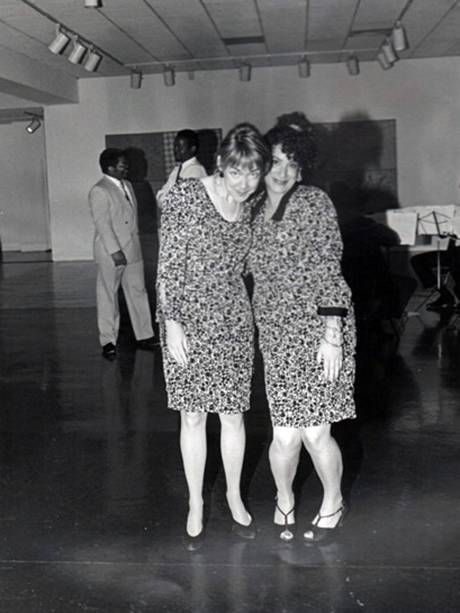 Anne Edgar, public information officer (left) and Ileen Shepard, director of exhibitions, c. 1985.