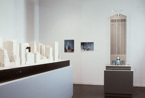 Invitation to the exhibition  New New York: Architectural Models from the Last Decade .