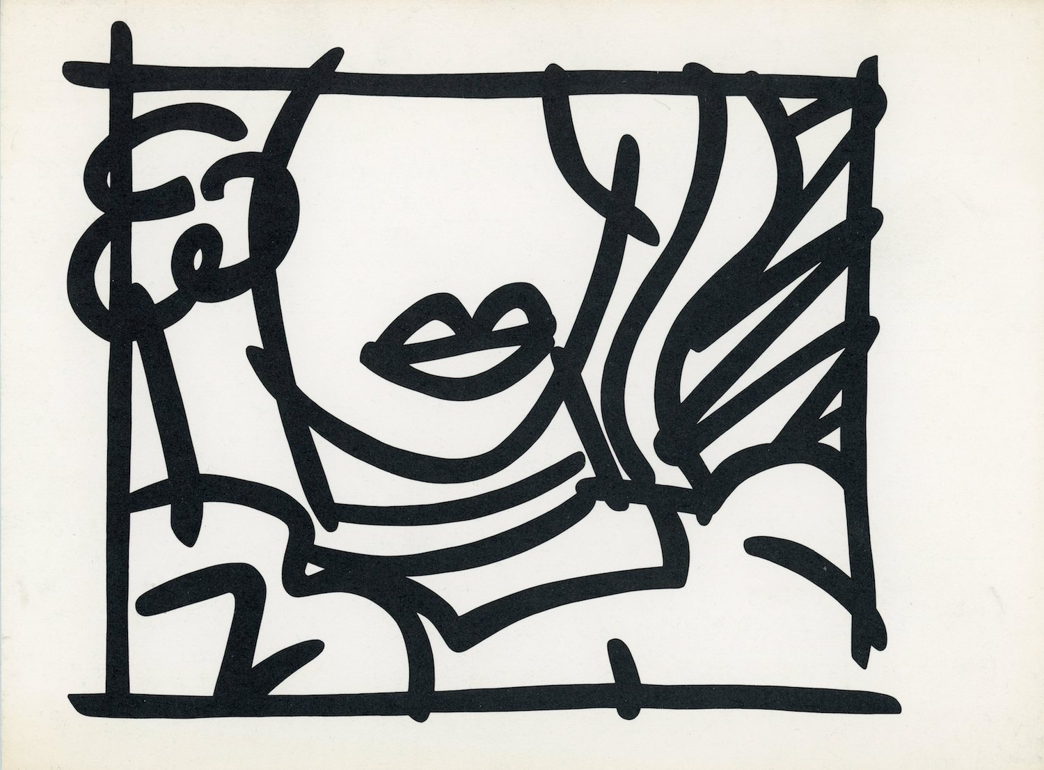Announcement Card for  Tom Wesselmann: A New Approach to Drawing  at the Queens Museum, 1987.