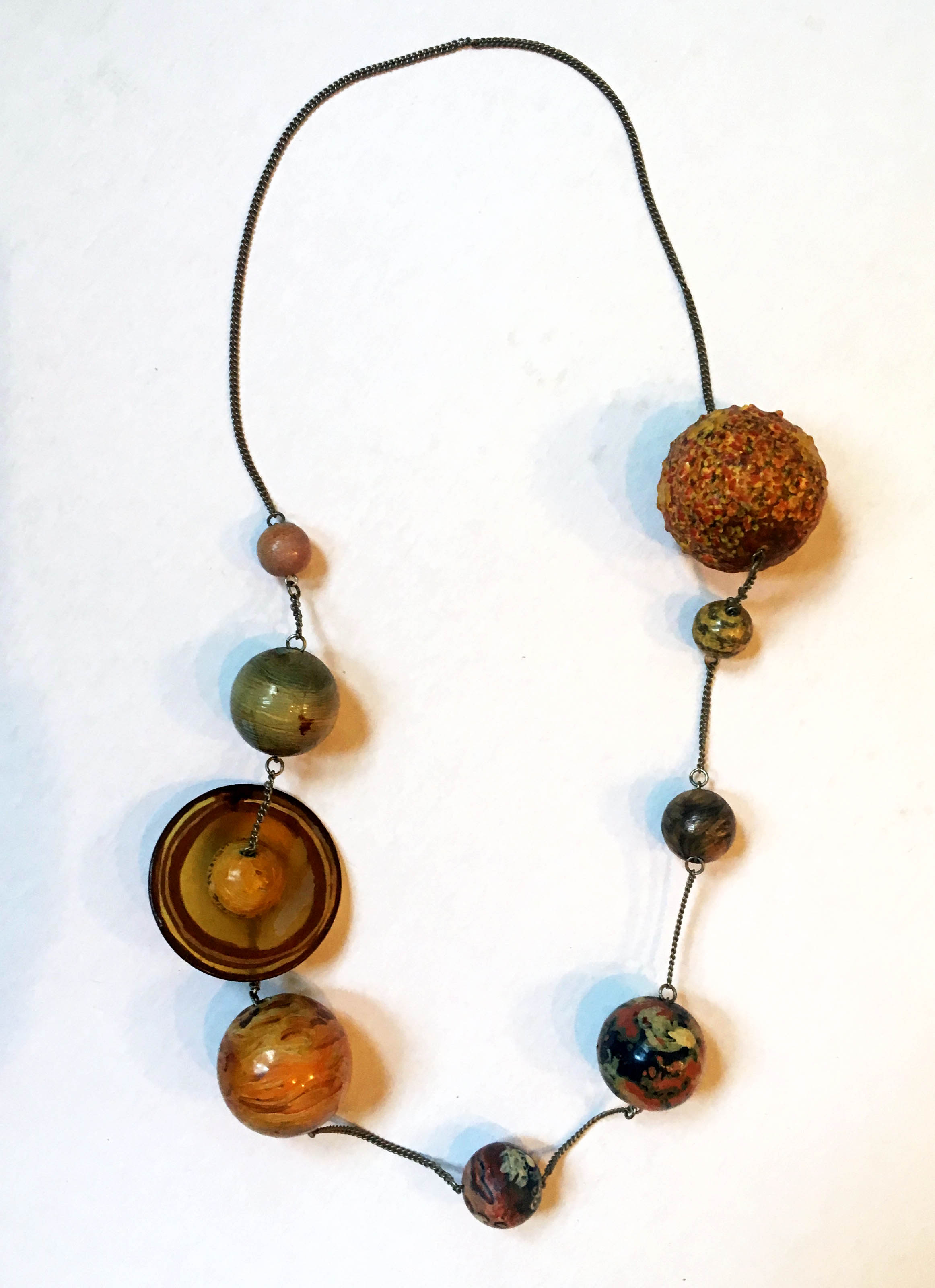 Solar System Necklace, late 1970's