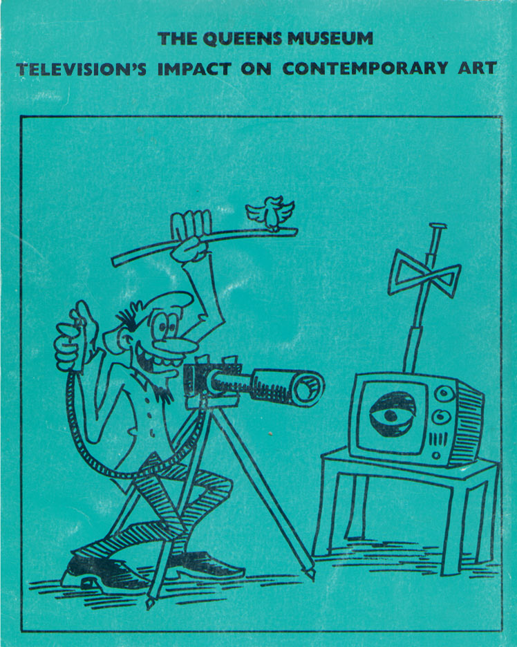 "Back cover of ""Television's Impact on Contemporary Art"" Catalogue"