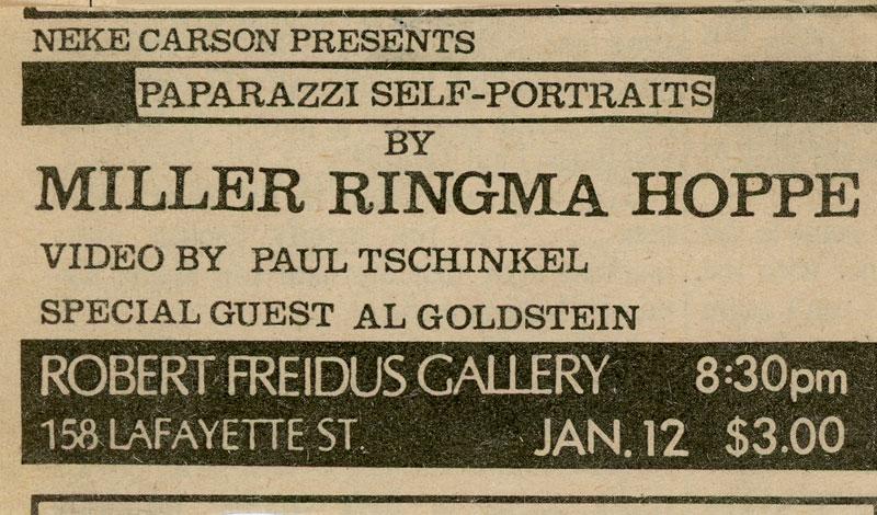 Robert Freidus Gallery Advertisement in Village Voice, January 1979