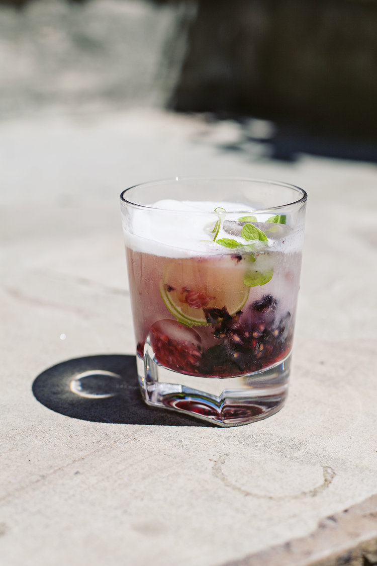 BOOZY BLACK RASPBERRY FLOAT | Tara O'Brady