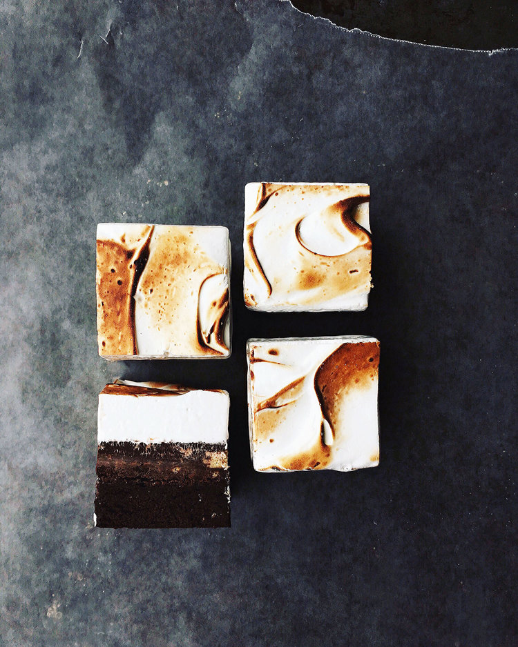 Triple Layer S'mores Brownies | Tara O'Brady