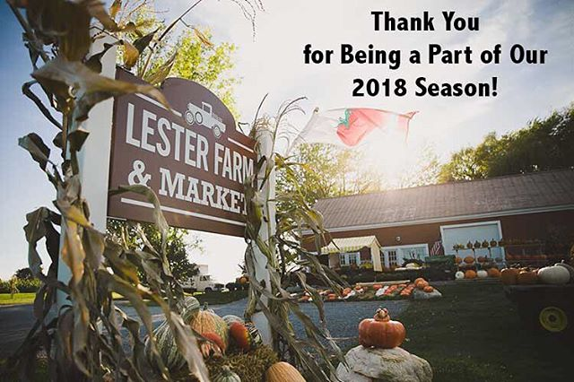 Thank you to all our community, friends, family, customers, and staff for another wonderful season! We already thinking of new and exciting additions for the 2019 season!