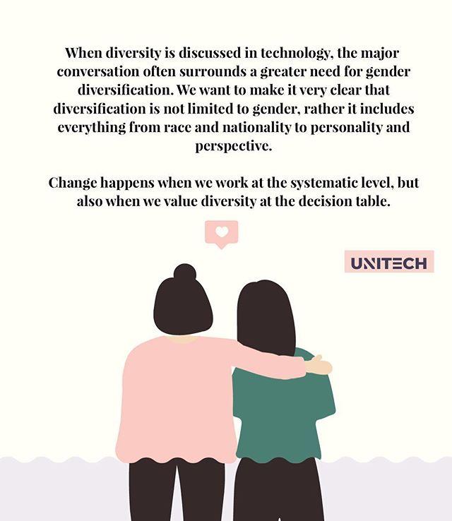 CREATING DIVERSITY IN TECHNOLOGY  #diversity #unitech #inclusionmatters #inclusion #tech #creatingchange