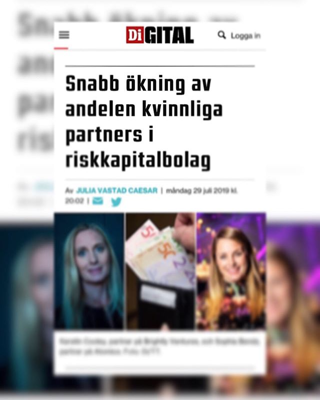 "Headline says: ""In four years, Sweden's leading venture capital company has gone from barely having any female partners at all - to having many in many cases. But it is far from equal in the sector, and many still lack female co-owners."" ▫️ Let's be positive but realistic. More women as investors - AMAZING! So in 4 years we have 22% more female partners as VC investors in Sweden.  But does that mean more investments for female entrepreneurs? Or other under-represented groups?  Facts: Few investments in the tech industry in Sweden go to female entrepreneurs and in many cases they are content with lower investment amounts.  Let's look at the following data - 1,083 investments in 815 tech companies registered in the Nordic Tech List database in 2018.  As many as 85 percent of the number of investments went to companies with only men as founders, 11 percent to companies with mixed founding teams and only 4 percent to companies started by women only. And the data says nothing about ethnicity within the group of founders but we know that there is even a lower percentage than only female founders.  Development has thus NOT progressed, as the distribution was basically the same in 2017. ▫️ We could not be more ready for change. Keep your eyes open - we are making moves to change this to! Exiting news coming soon! @didigital @breakit_se @veckansaffarer @dagensindustri @dagensindustritv  #unitech #unitechx #inclusionmatters #representationmatters #entrepreneur #investments #blockchain #edtech"