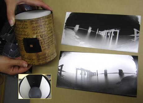 Hand-built pinhole camera and prints