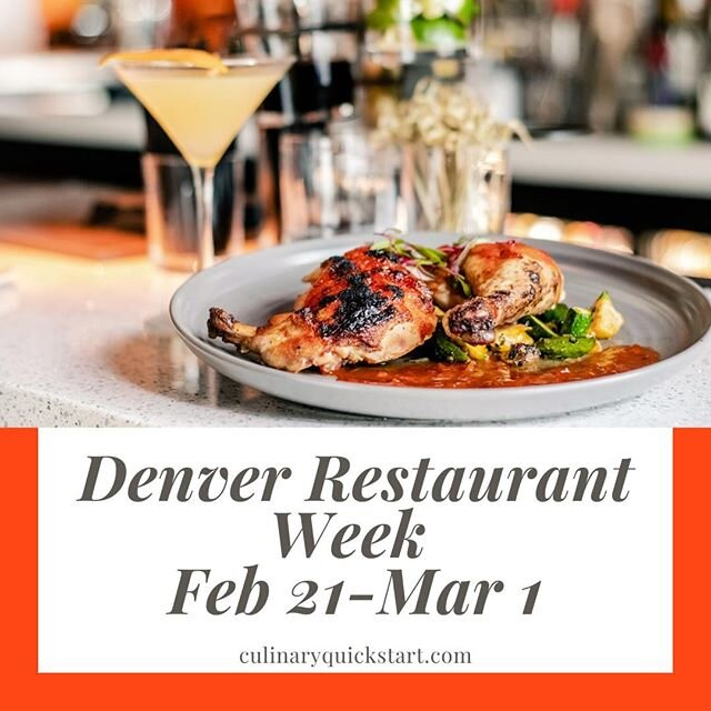 Today is the official start of #DenverRestaurantWeek Feb 21 - Mar 1 http://ow.ly/1L3A50yrXly Want to work in these hundreds of restaurants popping up all over Denver? Take our no-cost, 4-week #CulinaryTraining program to be prep/line cook culinaryquickstart.com Next class 3/16
