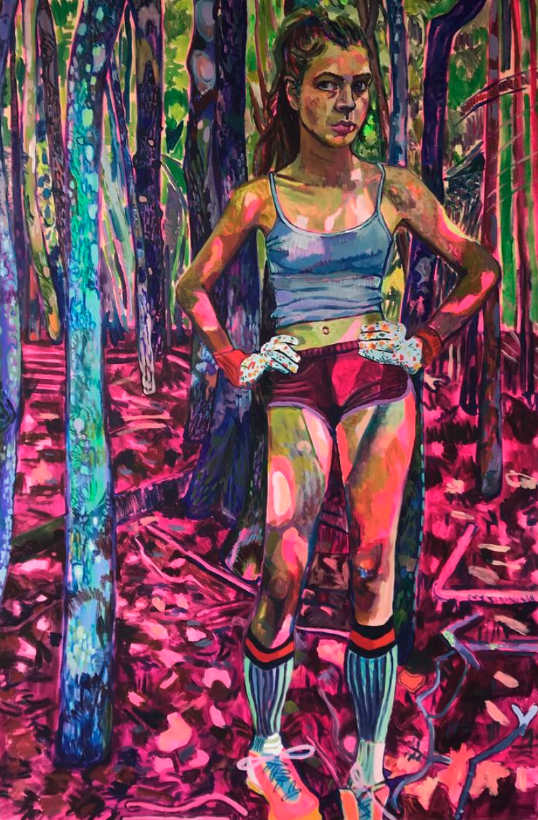 Elizabeth Chapin, Pink Camouflage, 2018