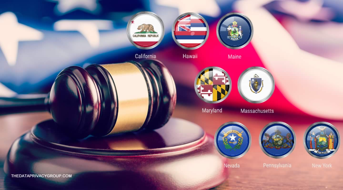 Evolution of consumer privacy laws in eight states.