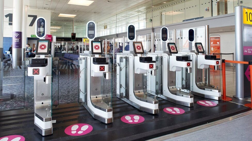 Facial scanning in operation at London Gatwick Airport