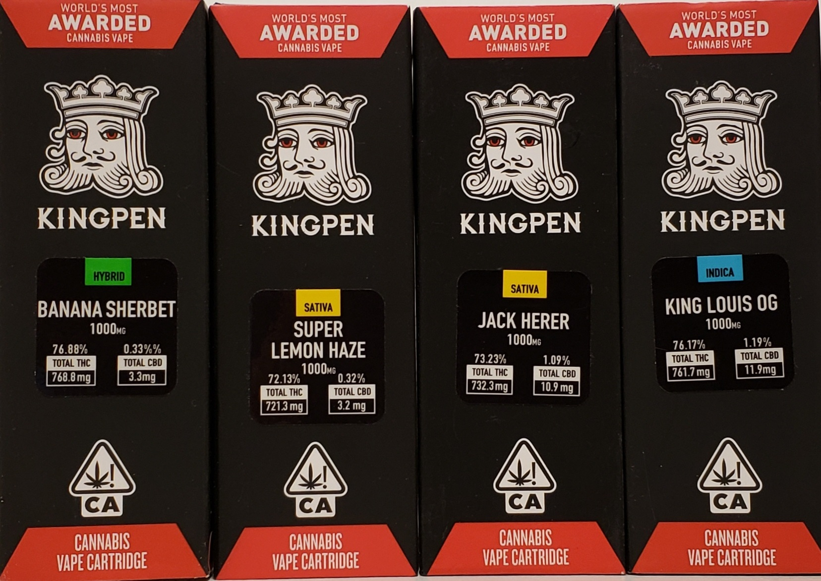 Kingpen Vape Cartridges (1000mg) — GREENE FAMILY WELLNESS