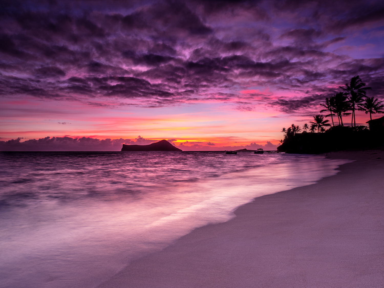 Landscaoe Ocean Sunrise Waimanalo Oahu Hawaii - Seth T. Buckley
