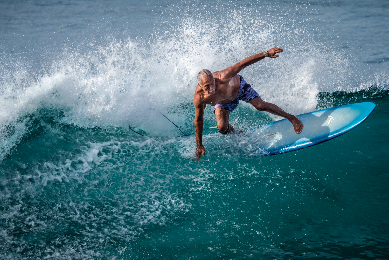 Surfer at Kakaako Honolulu Oahu Hawaii - Seth T. Buckley