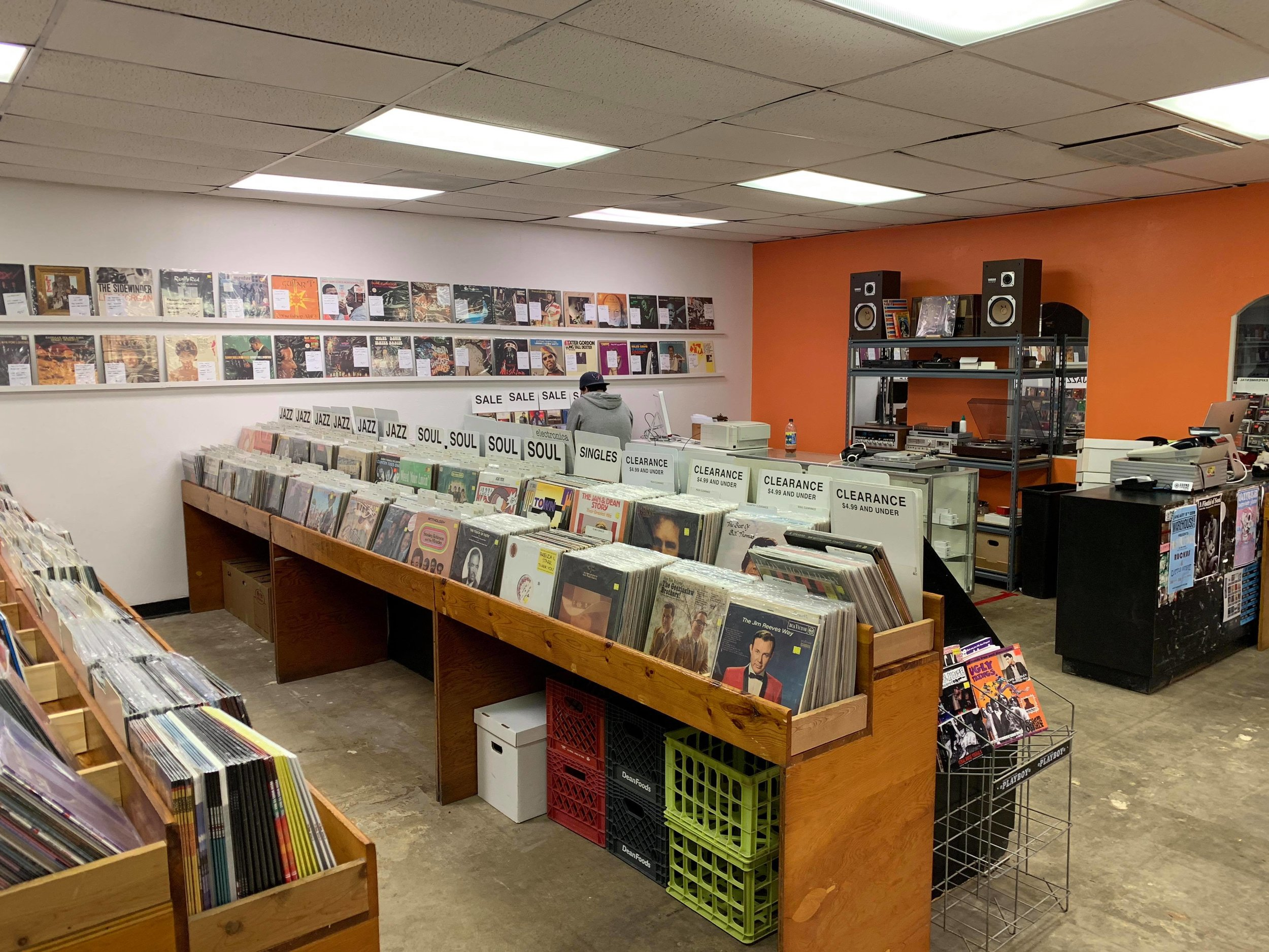 SOUND EXCHANGE - 101 N. Milby St. Houston, Texas 77003Used CDs & vinyl from rock, blues, punk & local artists, plus turntables and local shows.