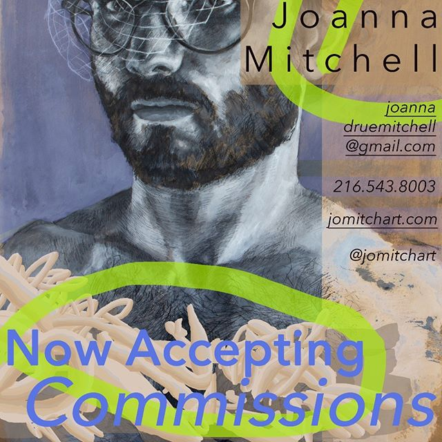 Now accepting commissions!  Portraits of your momma, your daddy, your babe, and your baby, your dog, and your dawg. . . . . . . . #clevelandartist #artistsoninstagram #portraitart #fineart #womenartists #cleveland #instaart