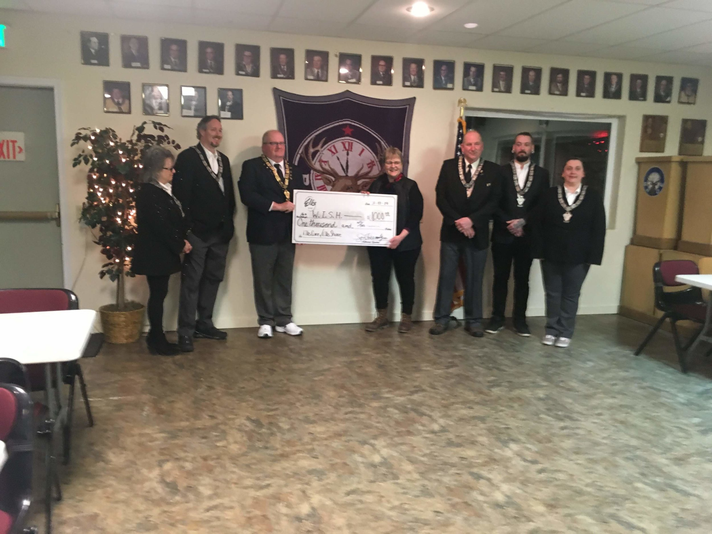 Agnes Moran and the Ketchikan Elks National Foundation representatives. 3/8/2019