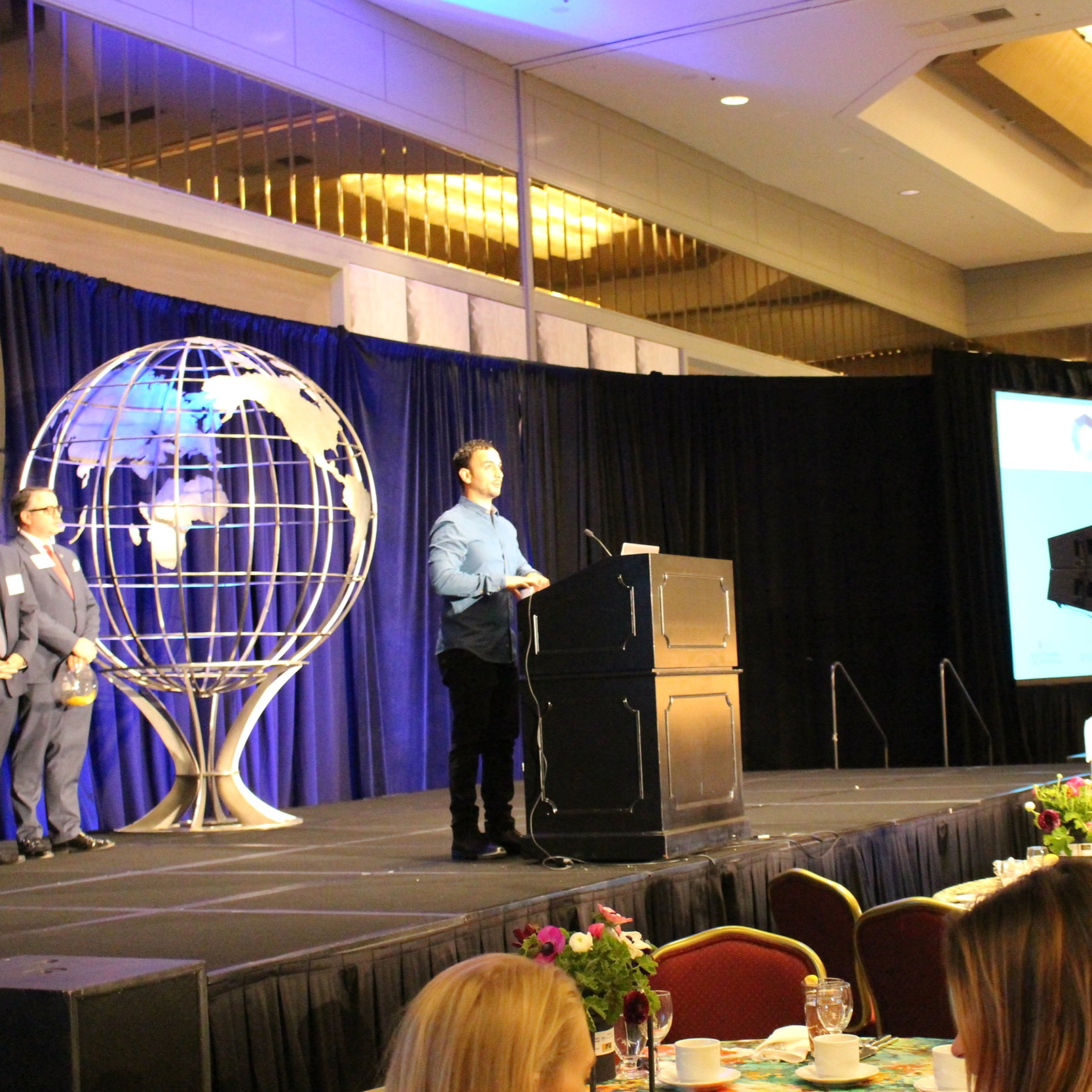 GMID Speaking engagement 4/12/18 - The Dream Builders Project founder, Mayer Dahan, spoke at the Global Meetings Industry Day to the hotel industry about human trafficking in Los Angeles and our partnership with the Los Angeles Police Department Human Trafficking Unit.
