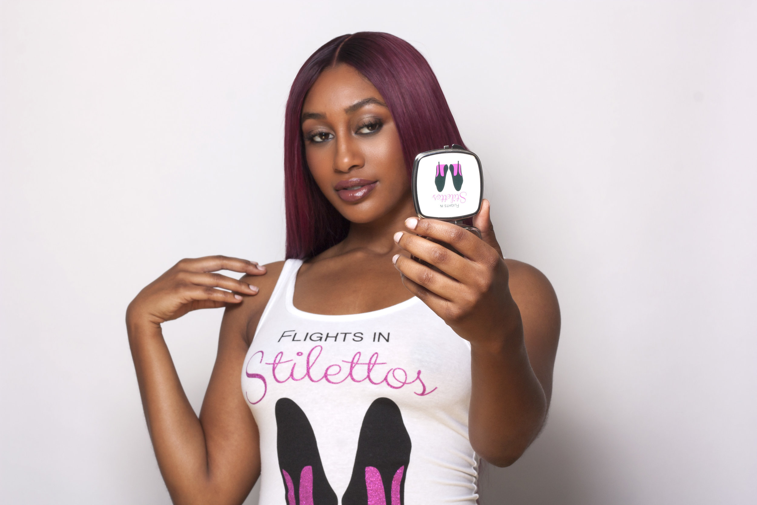 Sexy Traveler Tank Top and Compact Mirror