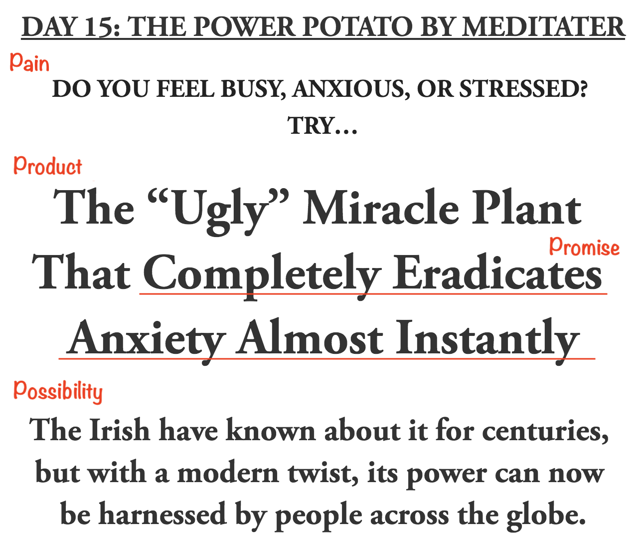 (This is literally about a potato. So, if it works for that, chances are it'll work for your product too.)