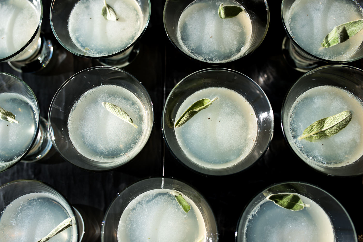 aerial view of cocktails