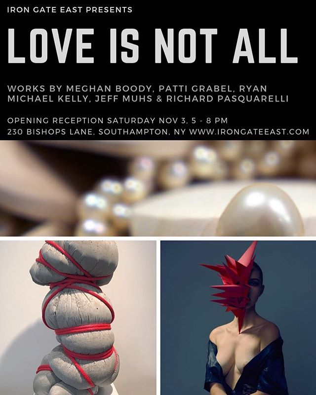 """Very proud to be a part of """"Love Is Not All"""" presented by @irongateeast curated by @kelcey_edwards  #ryanmichaelkelly #rmkart #artshow"""