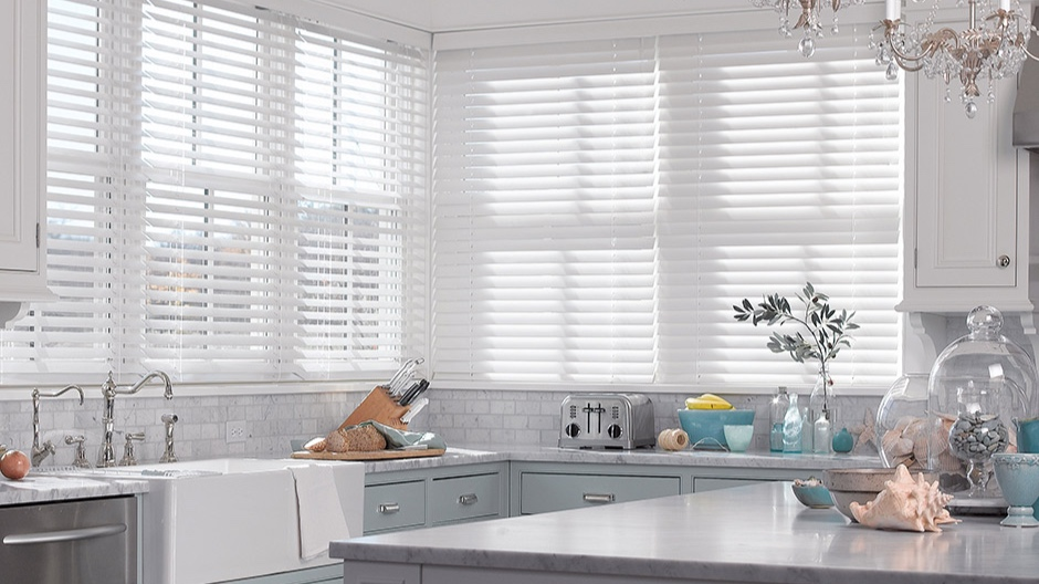 """wood blinds - With the ability to custom colour-match to existing wood trim and furnishings, you can create the perfect look for any room. Slat sizes in 1"""" and 2 ½"""" allow a tailored, precise fit to any window, while offering complete privacy- in style. Our wood blinds are sourced from 100% North American hardwoods from certified and domestic forests, you know you're doing your part in helping sustain our natural resources."""