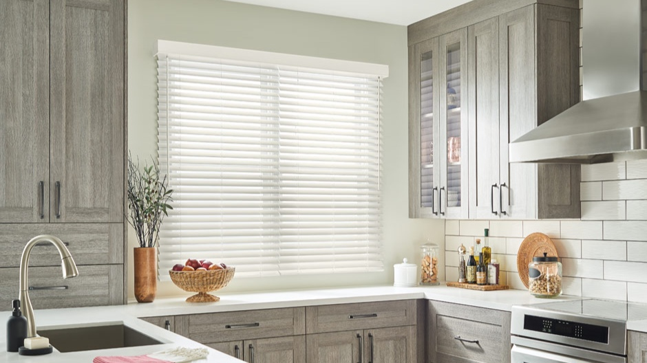 faux wood blinds - Available in a wide variety of styles and colours, faux wood blinds from Premier Blinds Ltd offer a selection of texture-rich, wood grain finishes. When a classic style like this is paired together with your existing furnishings, any space becomes a welcome retreat. Faux wood blinds bring to your home a timeless appeal of real wood blinds that is affordable. From durable, moisture-resistant composite blinds that are practical in bathrooms and other high-humidity rooms, to teak faux wood blinds for that chic styling accent. Our high quality faux wood blinds are durable and stylish.