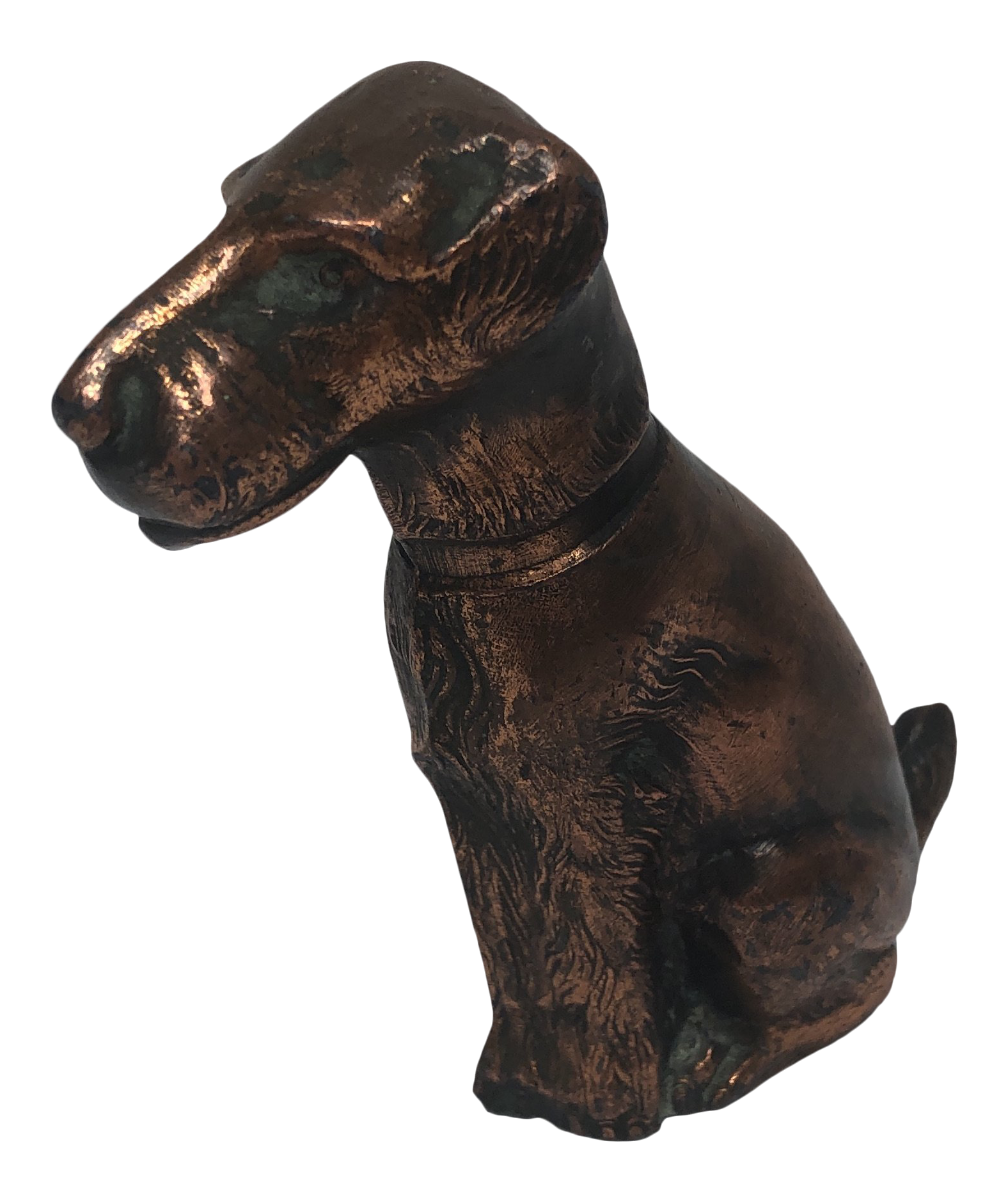 Copper Plated Airedale Terrier Figurine