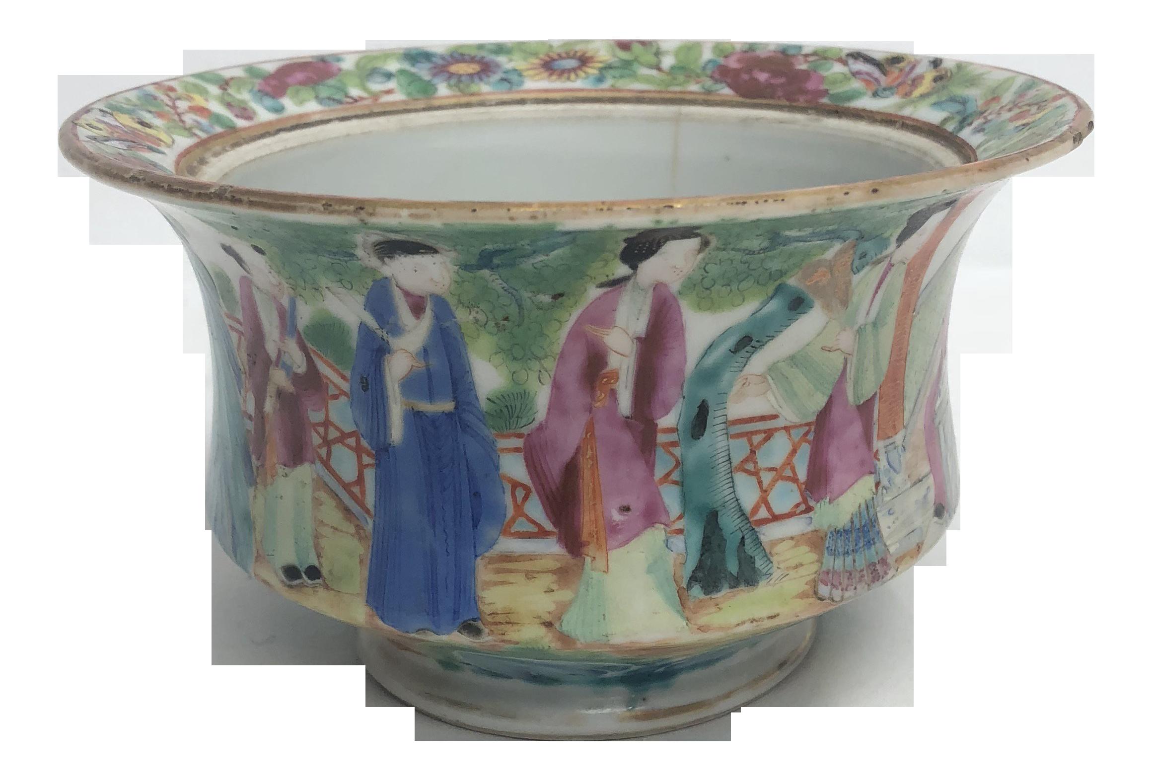 Antique Chinese Rose Mandarin Bowl