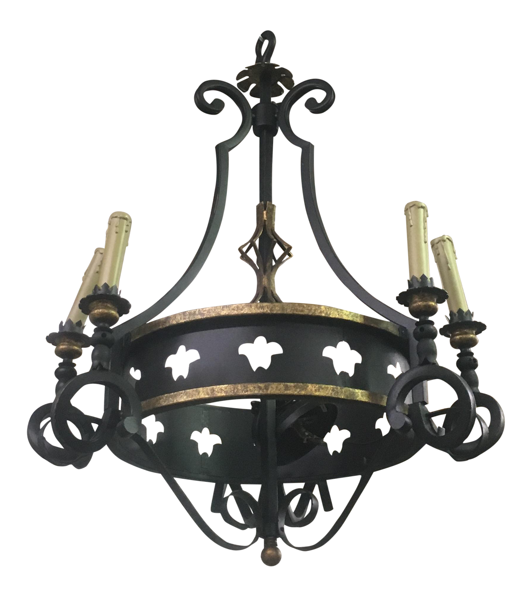Iron 6 Arm Chandelier