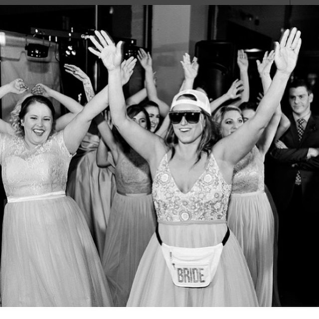 wedding dance party lessons - Want to wow your guests? Kick off the dance party and get the reception going with a bang? Doing a surprise dance with your wedding party is the perfect way to start the evening off. Is your wedding party out of state? No worries, we can choreograph a simple, fun routine for your friends to learn remotely via video.