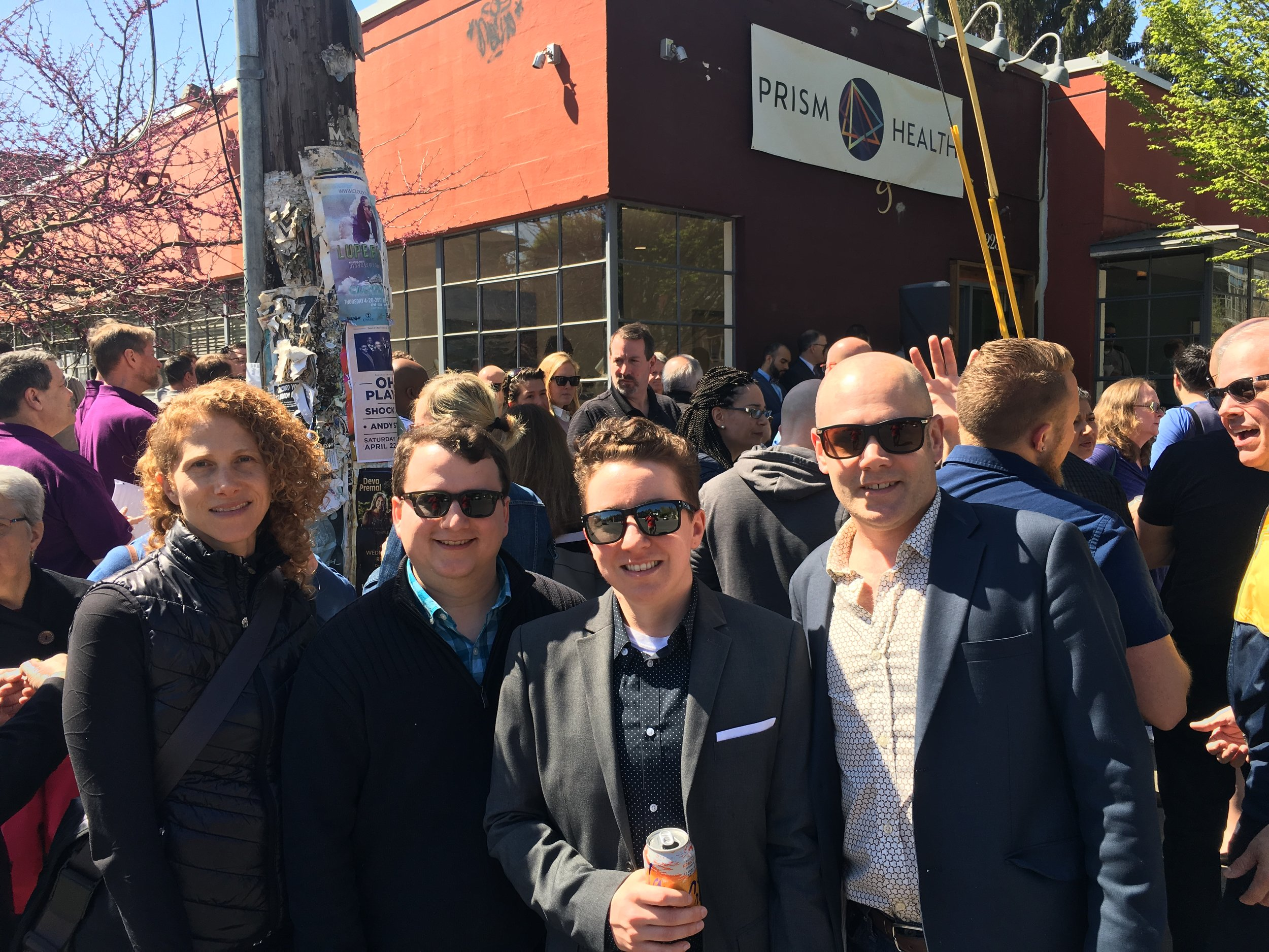 Dominek Architecture Team at the Prism Grand Opening // April 22, 2017