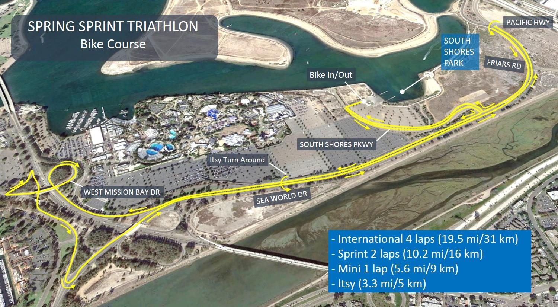bike course map