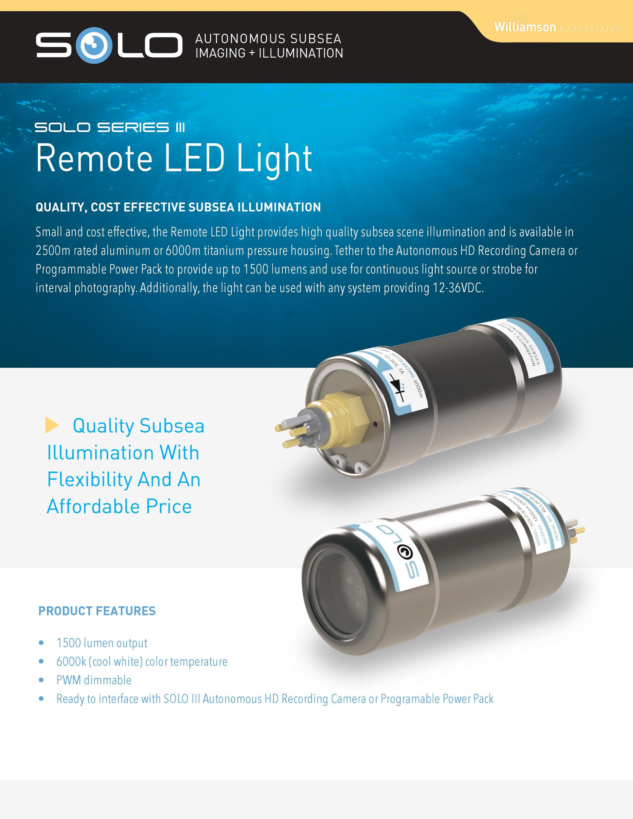 Subsea LED Lighting Solutions
